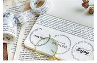 Beautiful Words Washi Tape Collection