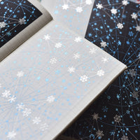 Sparkling Snow And Stars Wide Washi Tape