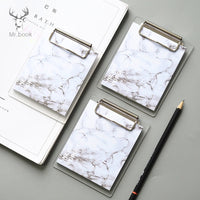Vintage Marble Printing Pattern Memo Pad Sticky Notes Memo Portable Notepad with Acrylic Writing Board Clips School Stationery
