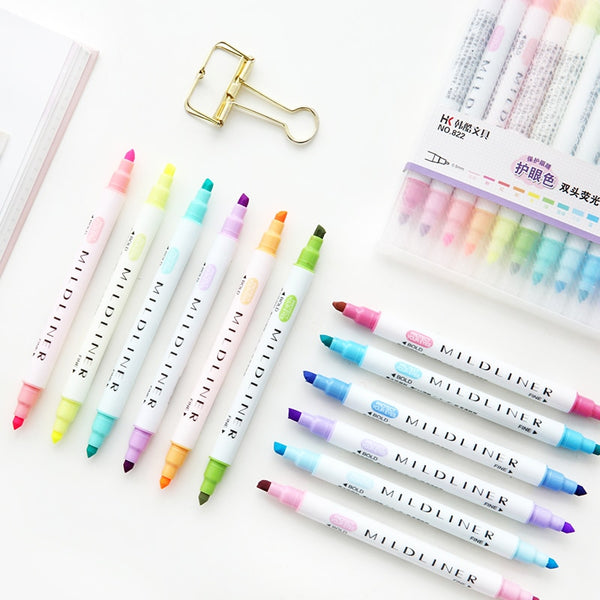 Fresh Colours Highlighter Set (With Dual Tips) – Paper Donkey