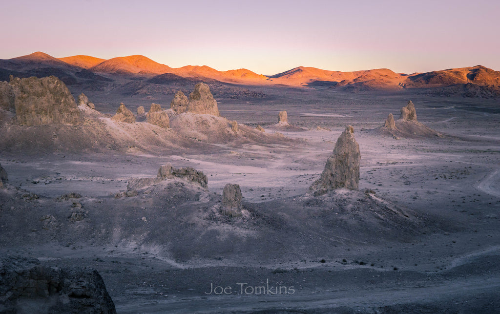 First Light at Trona Pinnacles