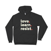 Love Learn Resist hoodie