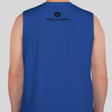 Suey with Peace Sign Muscle Tank (Royal Blue)