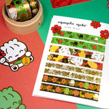 Lucky Red Flower Petals Washi (100 stickers)