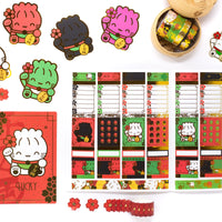 Maneki Neko - (c) Date Cover Stickers (Gold Foil)