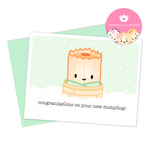 "Baby Card - ""Congratulations On Your New Dumpling"" (Suey Baby Boy)"