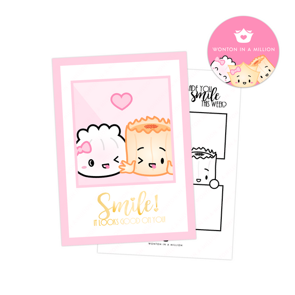 "Besties 5x7"" Journaling Card - ""Smile"""