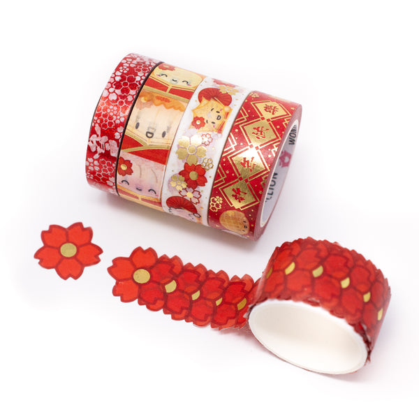Lunar New Year Washi Collection 2020 (Set Of 5) [LIMIT 1 PER PERSON/HOUSEHOLD]