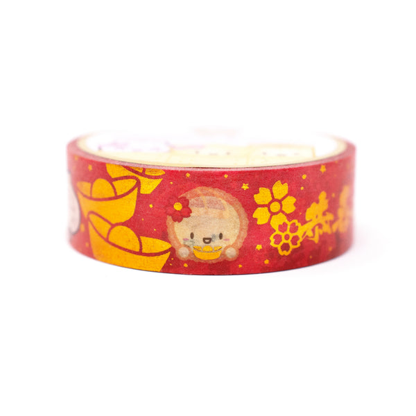 Lunar New Year - Steam Team Celebrates Lunar New Year Washi (15mm) (Gold OR Copper Foiled)