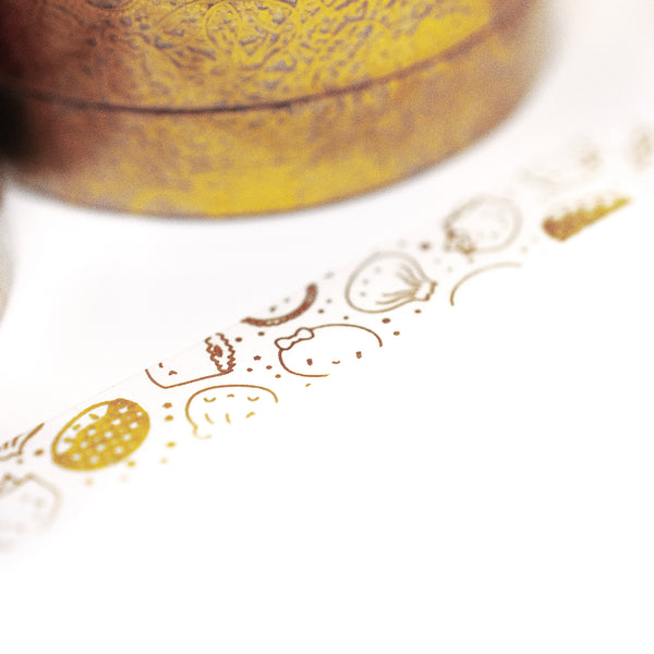 [DAY 10] Lunar New Year - Gold Steam Team Transparent Perforated Overlay Washi (7mm)