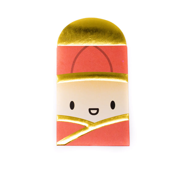 [DAY 6] Lunar New Year - Charlie Bao Red Envelope (Gold Foil)