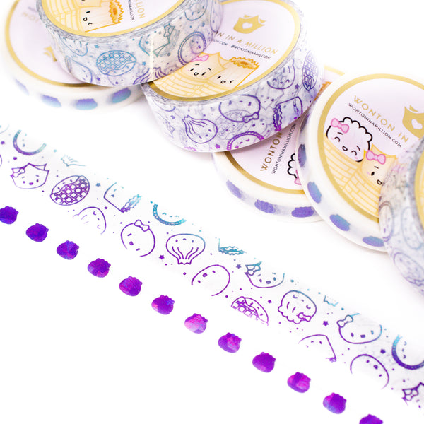 Pride Collection - Violet Blue Washi (Set Of 2) [note: has foil ghosting]