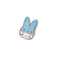 Easter - Steamie's Blue Peeps Hat Rose Gold Enamel Pin
