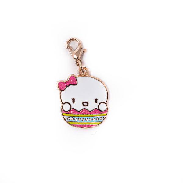 Easter - Laila Egg Rose Gold Enamel Charm