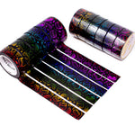 Steam Teamrio Rainbow Washi Set on Black Background (Set Of 6)