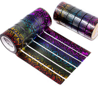 Steam Teamrio Rainbow Washi Set on Black Background (Set Of 6) [LIMIT 1 PER PERSON AND/OR HOUSEHOLD]