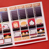 VERTICAL LAYOUT // Rock 'N' Ricky Eggroll Weekly Sticker Kit (Holo Confetti Foil)