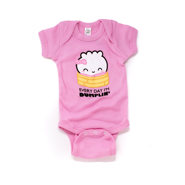 "Baby Steamie Bodysuit - ""Everyday I'm Dumplin'"""