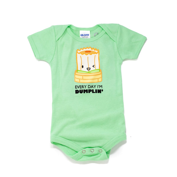 "Baby Suey Bodysuit - ""Everyday I'm Dumplin'"""
