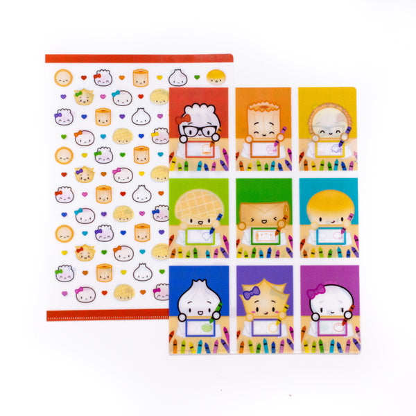 Back To School - Plastic Folders (Set Of 2)
