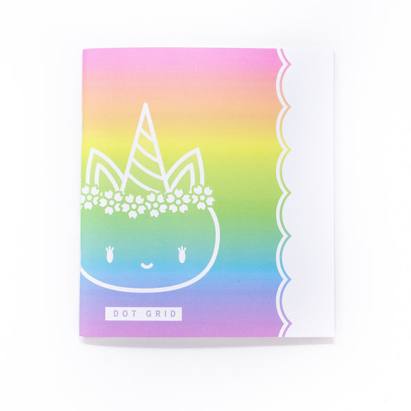 Rainbows & Unicorns - A5 Wide - DOT GRID