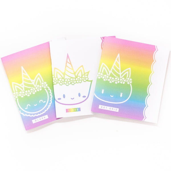 Rainbows & Unicorns - Variety Notebooks - A5W (Set Of 3)