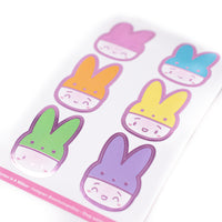 Easter - Steamie's Peeps Hats Foiled Seals (Hot Pink Foil)