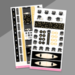 HOBONICHI WEEKS // Ninja Suey Hobonichi Weeks Sticker Kit (Gold Foil) - on washi sticker paper!