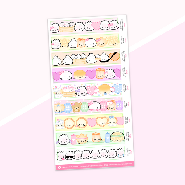 Year 5 Anniversary - Washi Strip Stickers - (01) The Originals (2016)