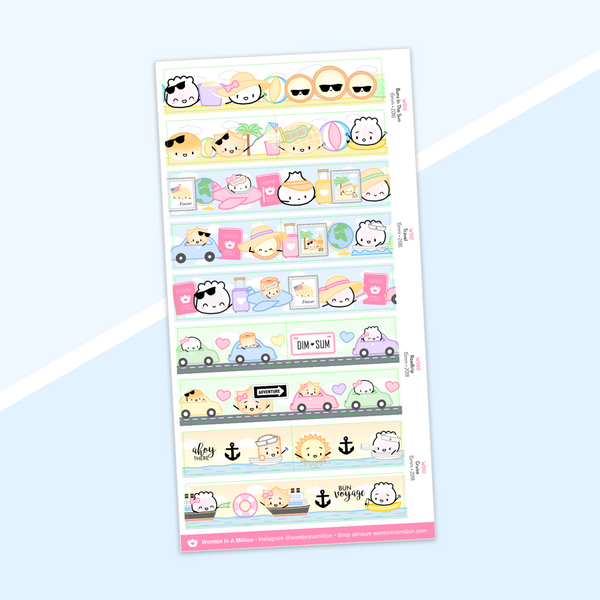 Year 5 Anniversary - Washi Strip Stickers - (03) Travel Collection (2016)