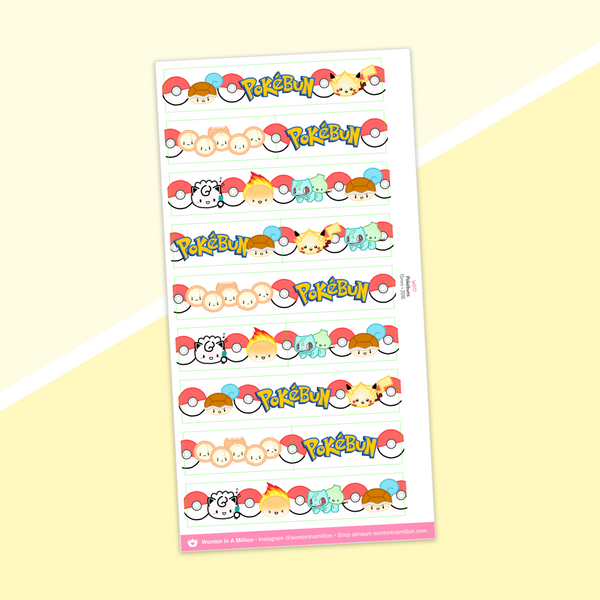 Year 5 Anniversary - Washi Strip Stickers - (05) Pokébuns (2016)