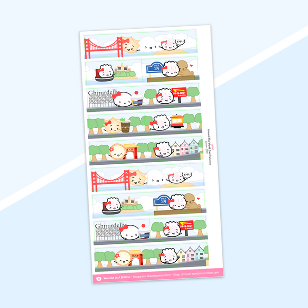Year 5 Anniversary - Washi Strip Stickers - (13) Around The World: San Francisco (2017) (Red Foiled)