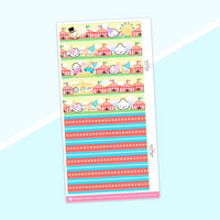 Washi Strips - (24) Carnival Collection (2018)