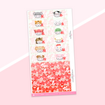 Year 5 Anniversary - Washi Strip Stickers - (28) Lunar New Year (2019-2020) - Part 2 of 2 (Red Foiled)