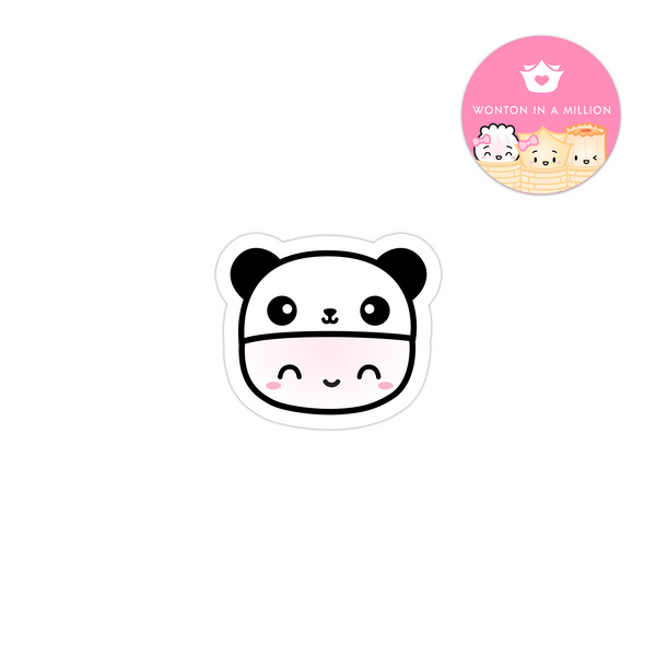 Panda Hat Steamie Vinyl Sticker