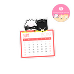 2019 06 - June Calendar Diecut Sticker