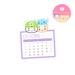 2019 10 - October Calendar Diecut Sticker