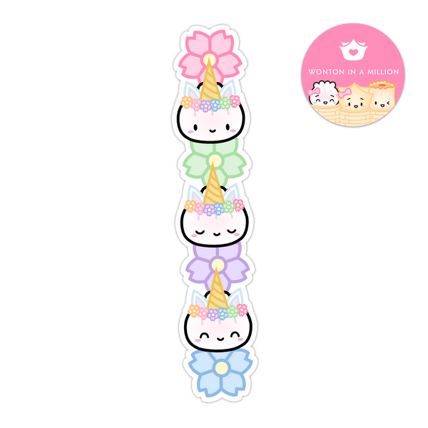 Unicorn Steamie Totem Diecut Bookmark Sticker