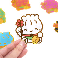 Maneki Neko Diecut Sticker Set (Set Of 6)