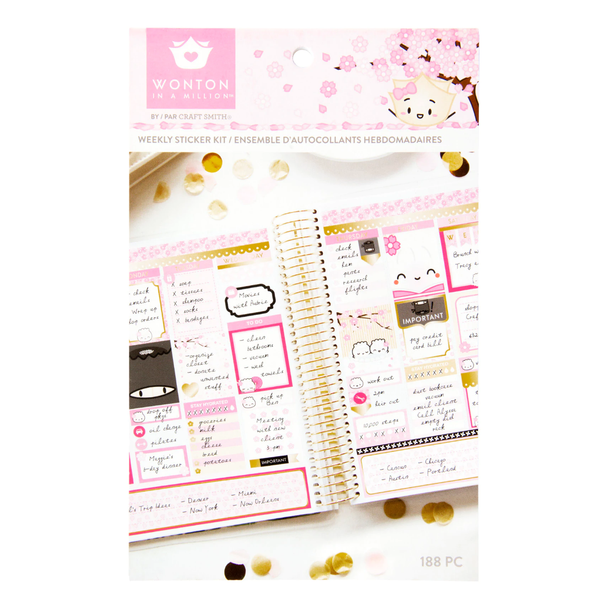 Cherry Blossom - Weekly Sticker Kit - Michaels x Craft Smith