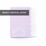 WIAM x Aura Estelle - A5 Wide Notebook/Insert - LILAC Wonton (Weekly Vertical Layout Pages, 27 Weeks) - 7x8""