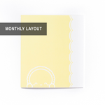 WIAM x Aura Estelle - A5 Wide Notebook/Insert - YELLOW - DAWN (Monthly Pages, 18 Months, 56 Pages) - 7x8""