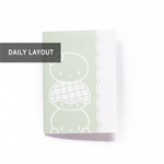 B6 Notebook/Insert - GREEN - BUN TOTEM (Daily Pages, 42 Days / 6 Weeks) - 5x7""
