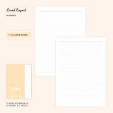 B6 Notebook/Insert - ORANGE - SUEY (Lined Pages, 56 Pages) - 5x7""