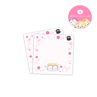 Around The World Cherry Blossom and Ninja Japan 3x3 Sticky Notes