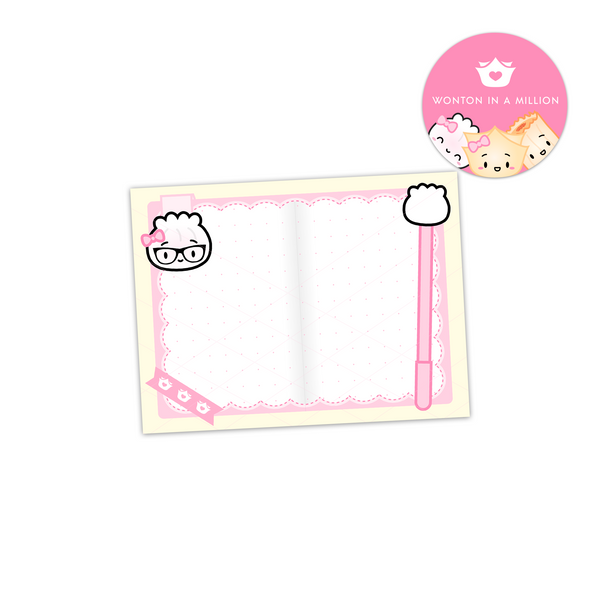 Steamie Planner Nerd 4x3 Sticky Notes
