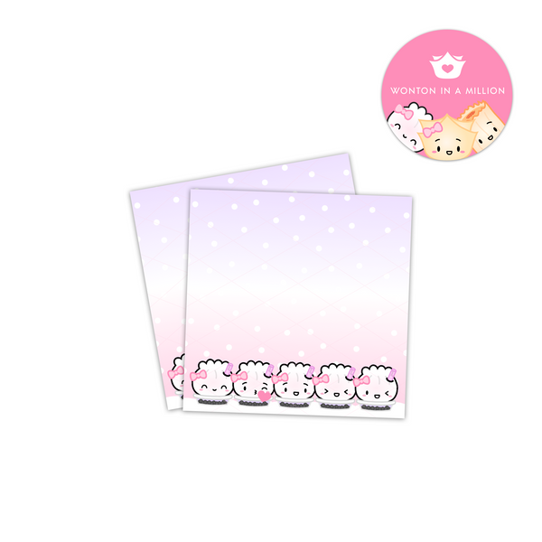 Pink to Purple Bubble Tea Steamie 3x3 Sticky Notes