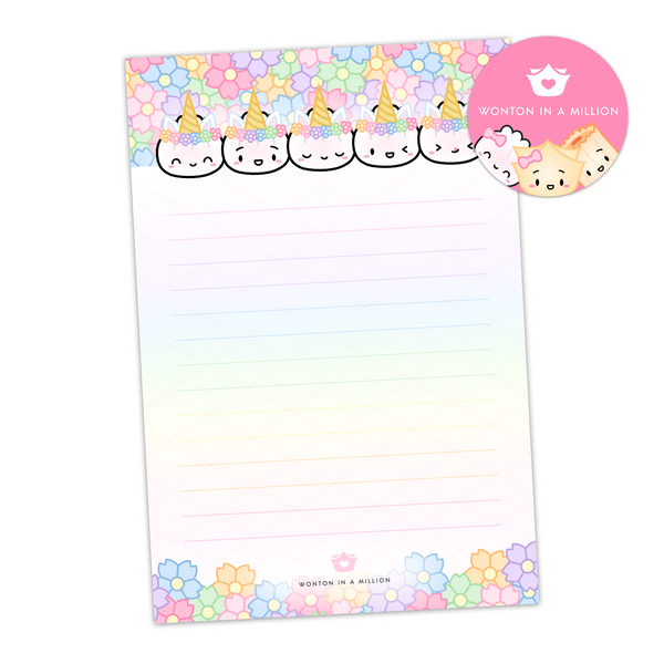 Unicorn Steamie 4x6 Sticky Notes