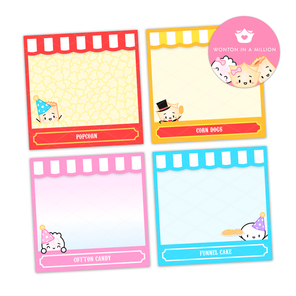 Carnival Sticky Notes (Set Of 4)