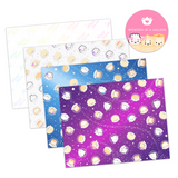 Galaxy Paper Pack (2 Foiled Cardstock, 1 Vellum, 1 Acetate)